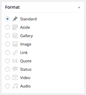 WordPress Standard Post Format