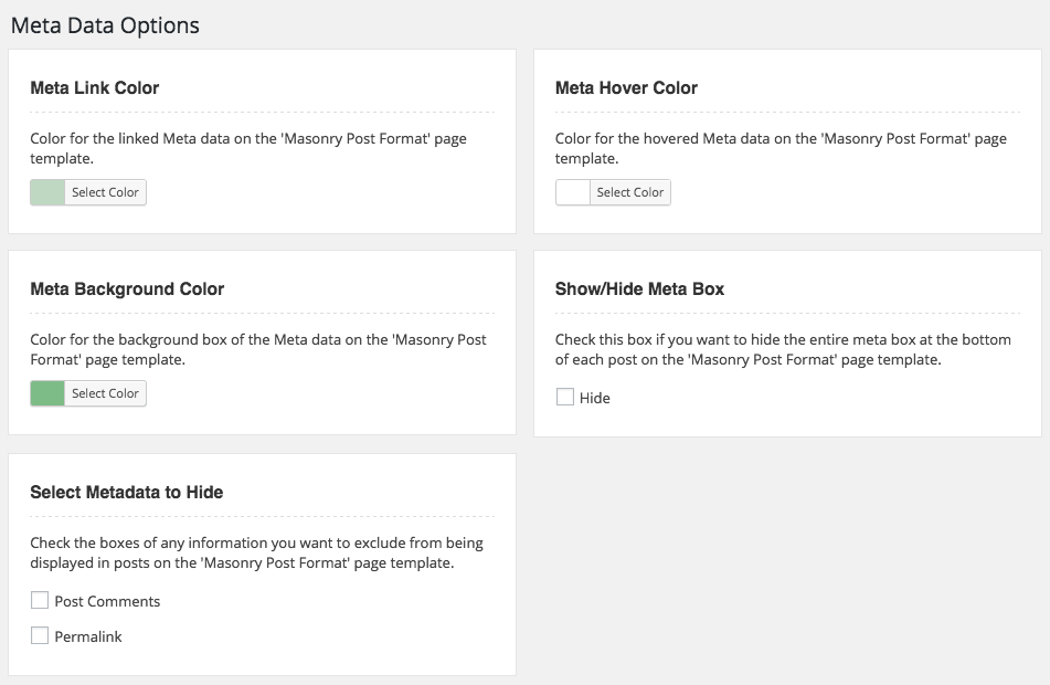 WordPress Meta Display Option for Post Format