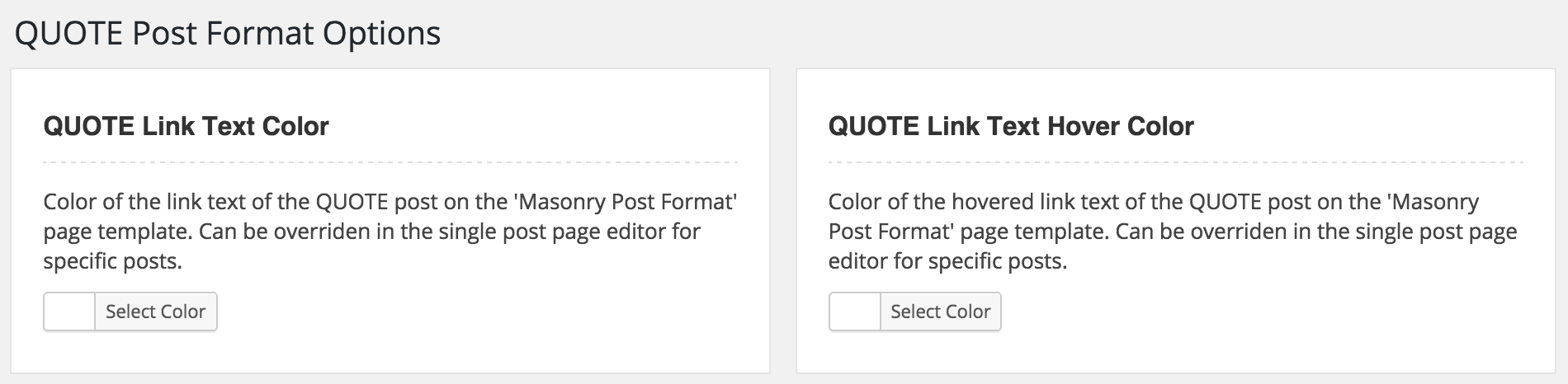 WordPress Quote Post Format Option