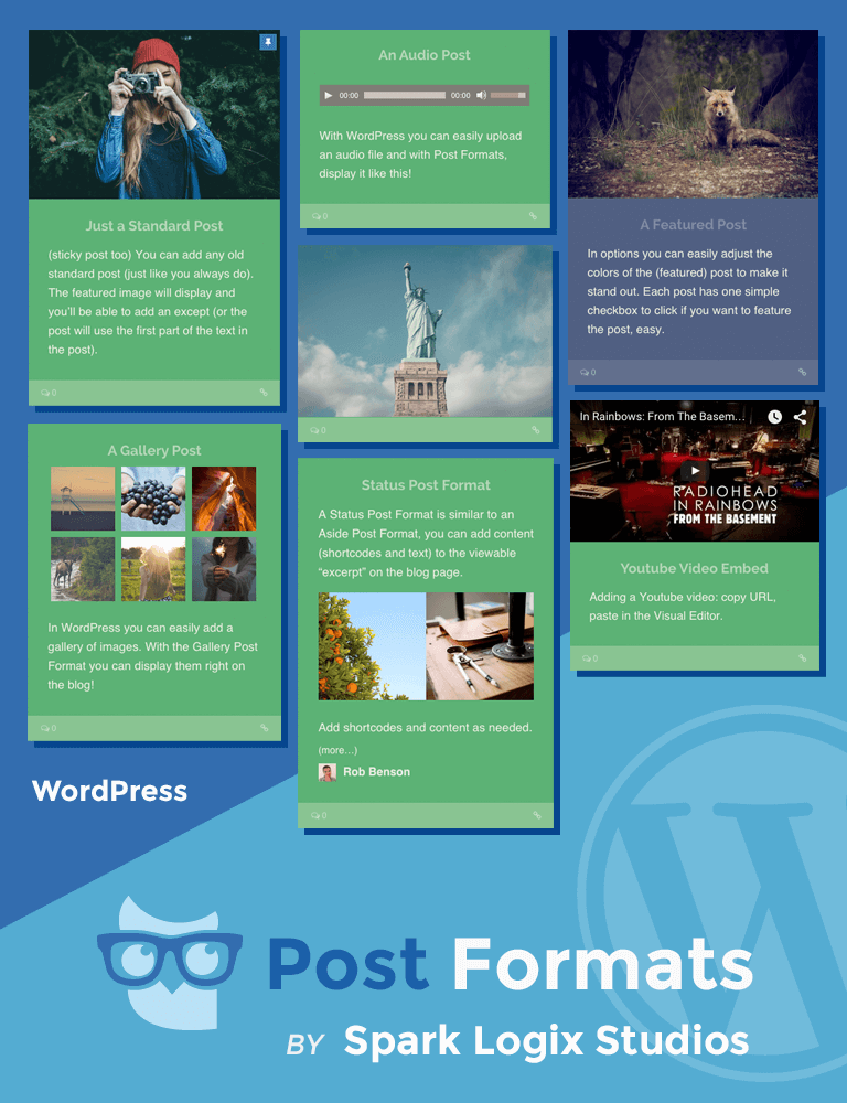 WordPress Post Formats by Spark Logix Studios